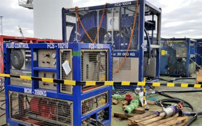 FCS equipment onboard the Technip vessel Deep Arctic